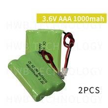 2 шт./лот KX Оригинальный Новый Ni-MH AAA 3,6 V 800mAh Ni MH аккумуляторная батарея с вилками для беспроводного телефона Бесплатная доставка