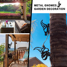 Tree-Art Gnomes-Decoration Steel-Branch Garden Backyard Metal Silver