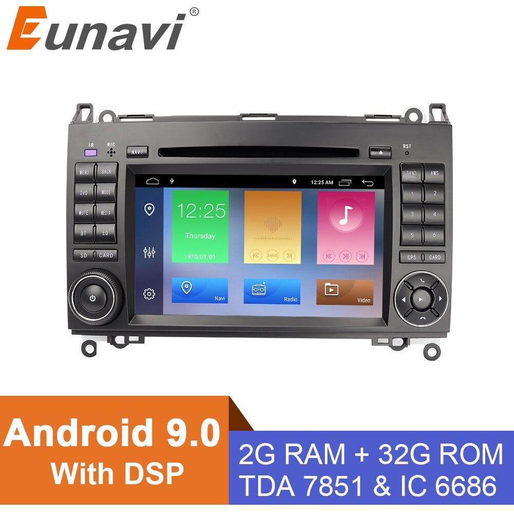 Eunavi 7 ''2 Din Android 9 Автомобильный DVD Радио для Mercedes Benz B200 B класс W245 B170 W209 W169 спринтер gps Navi четырехъядерный с DSP