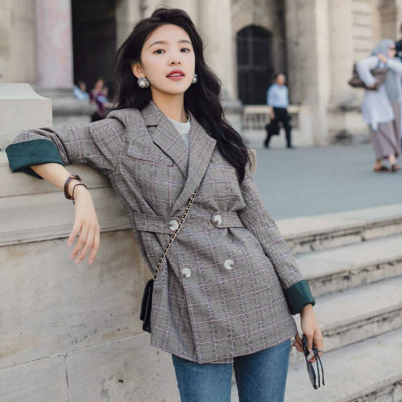 Women's Blazer 2019 Autumn New High Quality Long Sleeve Suit Jacket Female Casual Women's Office Top Ladies' Jacket