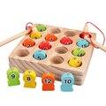 Магнитные игрушки для рыбалки, деревянные игрушки для детей с удочкой, Детские магниты