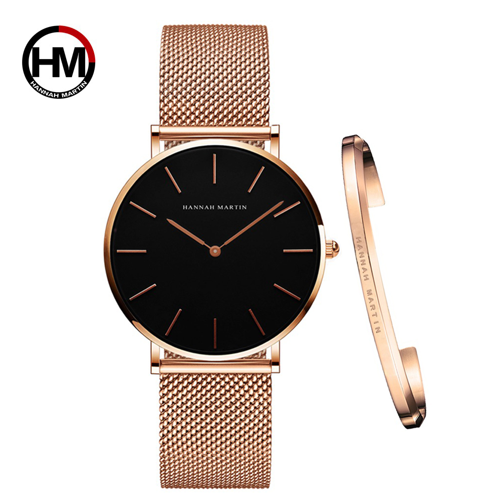 Women Watch 1 set Bracelet Japan Quartz Movement Simple Waterproof Rose Gold Stainless Steel Mesh Ladies watch relogio feminino|Women's Watches| - AliExpress