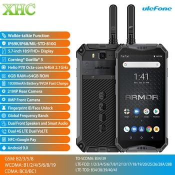 Ulefone Armor 3WT 5.7'' Android 9.0 Mobile Phone 6GB 64GB 10300mAh Walkie-talkie Helio P70 Octa Core Dual SIM NFC OTG Smartphone