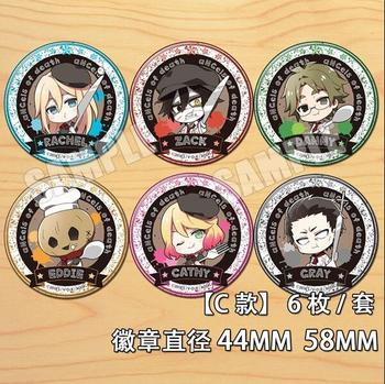 Anime Angels of Death Eddie Cathy Rachel Zack Danny Figure 4630 Badges Round Brooch Pin Gifts Kids Collection Toy image
