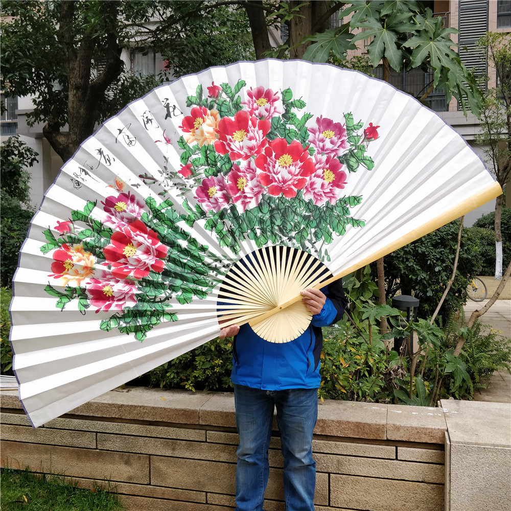 Four Size Special Xuan Paper Chinese Painting Peony Room Decoration wall fan Hang Fan Hand Hang Fan Paper|Decorative Fans| |  -