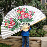 Vier Größe Spezielle Xuan Papier Chinesische Malerei Pfingstrose Zimmer Dekoration wand ventilator Hängen Fan Hand Hängen Fan Papier|Dekorative Lüfter|   -