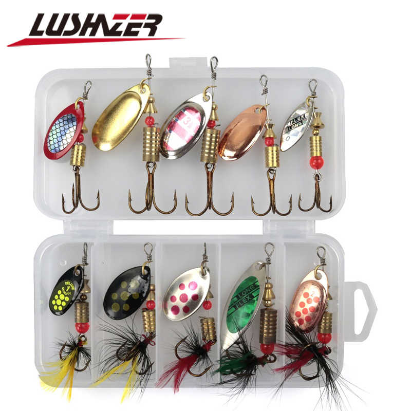 10pcs//lot Colorful 3g Metal Spoon Lure Spinner Bait Hard Sequins with Box