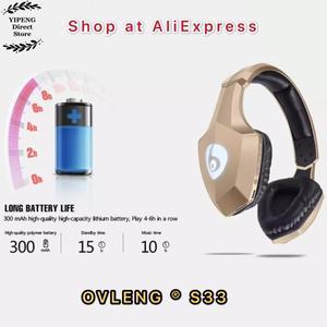 Image 5 - OVLENG S33 מעל אוזן בס סטריאו Bluetooth אוזניות אלחוטי אוזניות תמיכת מיקרו SD/TF כרטיס FM רדיו מיקרופון & LED