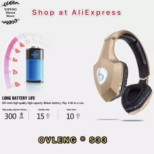 Image 5 - OVLENG S33 Over Ear Bass cuffie Stereo Bluetooth cuffie Wireless supporto Micro SD/TF Card Radio FM microfono e LED