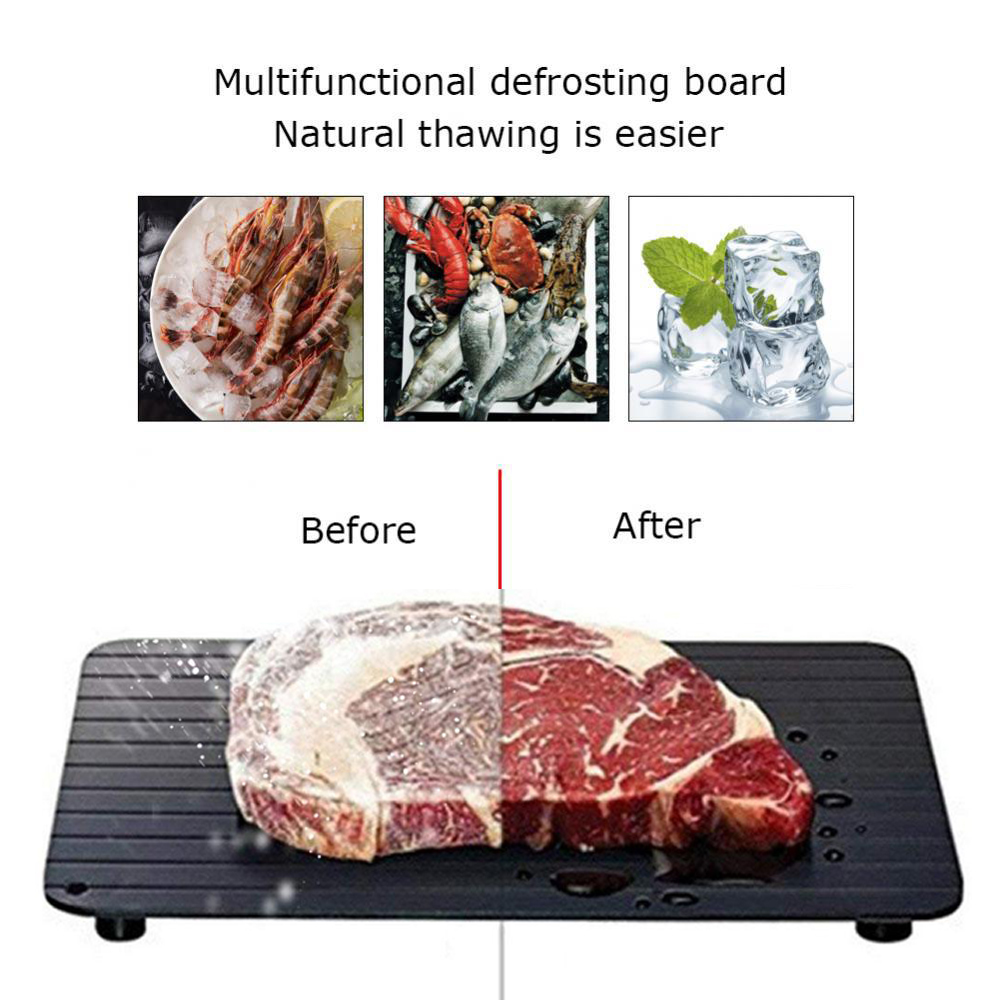 Fast Defrosting Tray Thaw Frozen Food Meat Fruit Quick Defrosting Plate Board Defrost Kitchen Gadget Tool Thaw Defrost Tray