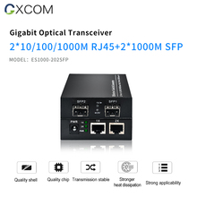 Gigabit 2 SFP 2 RJ45 Ethernet Media Converter with SFP Fiber Port.  10/100/1000Mbps SFP Media Converter/Fiber Transceiver