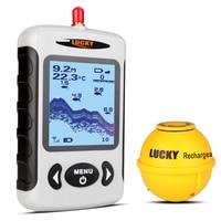 전문 낚시 수중 음파 탐지기 무선 수중 음파 탐지기 휴대용 낚시 프로브 탐지기 fishfinder 도트 매트릭스 eu 플러그
