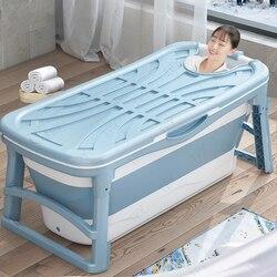 1,36 м ванна для взрослых утолщенная складная детская Ванна портативная пластиковая спа Массажная домашняя Изолированная Большая складная б...
