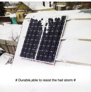 Image 1 - DOKIO 100 واط 18 فولت لوحة طاقة شمسية سوداء الصين خلية/وحدة/نظام/المنزل/قارب 100 واط لوحات شاحن للطاقة الشمسية