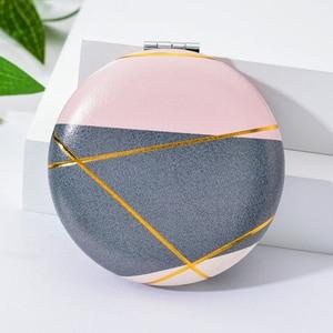 Image 5 - Vicney 2019 nouveau Double face Portable Mini miroir de maquillage mode tempérament pliable cosmétique Compact miroir pour les femmes cadeaux
