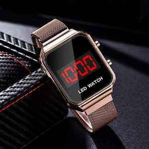 Electronic-Watch Couple Digital Clock Led-Alloy Sports Personality Men Women with New