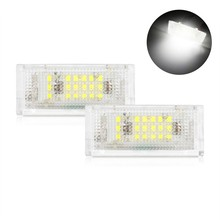 2 pieces Led License Plate Light Led Canbus Auto Tail Light White LED Bulbs For BMW 3er E46 4D 1998 2003 Car Accessories