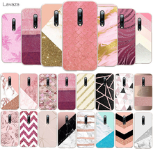 Lavaza Gold Pink rose Glitter marble Hard Phone Case for