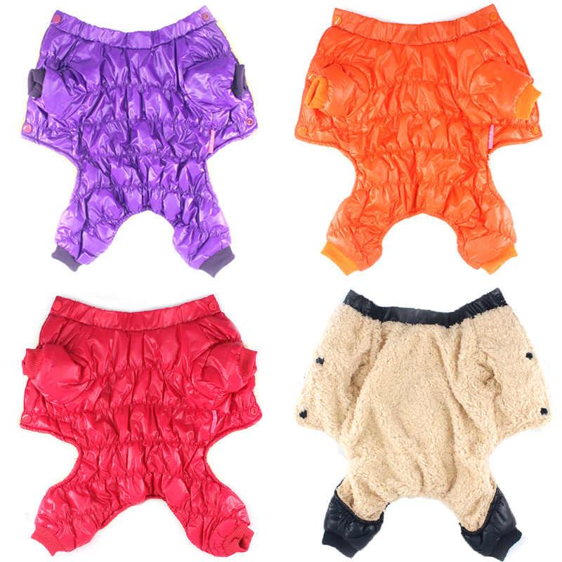 Однотонная зимняя одежда для собак, мягкий флисовый теплый комбинезон для собак, пальто для щенков, одежда для чихуахуа, зимнее пальто для собак, размер 8-18