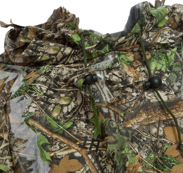3D Hunting Clothes Camouflage Ghillie Suit Jungle Cloak Poncho Bionic Leaves Dress Hooded Ghillie Suits for Sniper Photograph 4