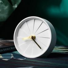 Креативные беззвучные часы круглые европейские индивидуальные домашние ремесла цементные часы украшение для дома гостиная спальня Настольный дисплей