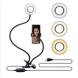 Ring-Light Desk-Lamp Lazy-Bracket Mobile-Phone-Holder Selfie Office Live-Stream Kitchen