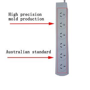 Image 2 - AU אוסטרלי CN תקע 4/6 AC Outlet כוח רצועת שקע חשמלי הארכת כבל 1.8M הגנת עומס יתר 250V 10A 2500W