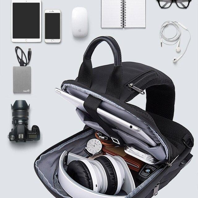 Bange New Multifunction USB Recharge Crossbody Bag for Men Shoulder Messenger Bags Male Waterproof Short Trip Chest Bag Pack 2