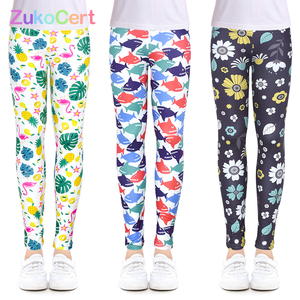 Girls Leggings for Outdoor Travel Clothes Girls Pants Student Casual Wear Customizable Stylish Computer Printing For 4-13 Years(China)