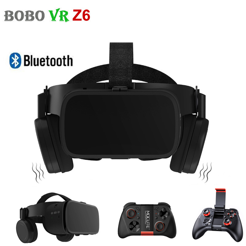 BOBO VR Z6 3D Glasses Virtual Reality for Smartphone Black Google Cardboard VR Headset Helmet Stereo BOBOVR for Android 4.7 6.2