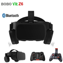 BOBO VR Z6 3D Glasses Virtual Reality for Smartphone Black Google Cardboard VR Headset Helmet Stereo BOBOVR for Android 4.7-6.2