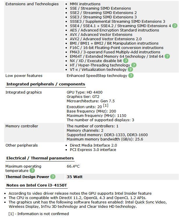 Intel Core i3-4150T 3.0GHz 3MB 5GT/s LGA 1150 i3 4150T CPU Processor SR1PG Desktop Processor tested 100% working 4