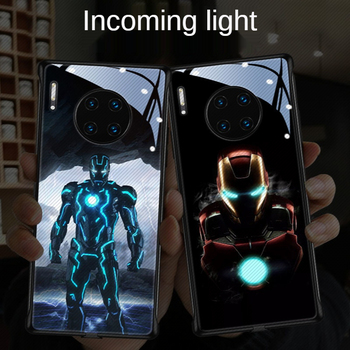 disney-mobile-phone-case-protective-cover-for-huawei-mate30-20-40-p40-p40pro-call-light-iron-man-mobile-phone-case