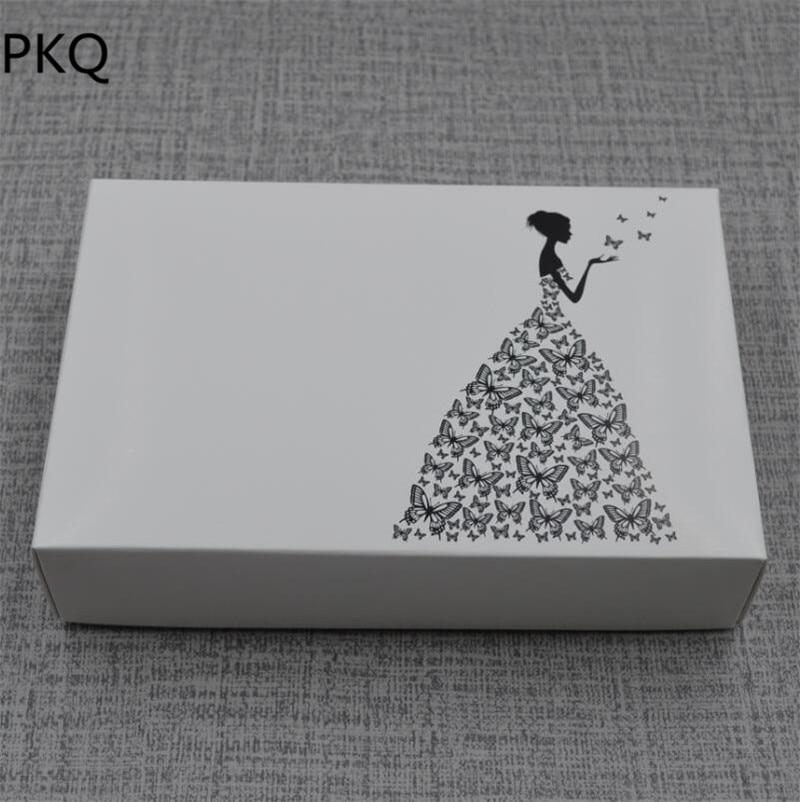 30 pièces petite boîte-cadeau avec couvercle blanc Kraft boîte de papier faveur de mariage boîte de bonbons artisanat Carton Carton présent boîte d'emballage 18x12x4cm