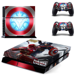 Image 3 - Ps 4 Pro Marvel Skin Sticker Decal Vinyl Voor Sony Playstation 4 Pro Console En 2 Controllers Voor Ps4 Pro slim Stickers Ps4pro