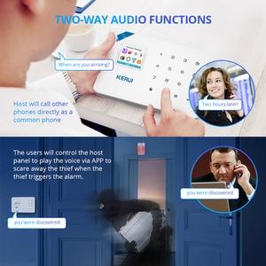 Image 5 - KERUI W18 домашняя система безопасности Aalrm Wi Fi GSM беспроводное приложение управление 1,7 дюймовая сенсорная панель клавиатуры домашняя охранная сигнализация