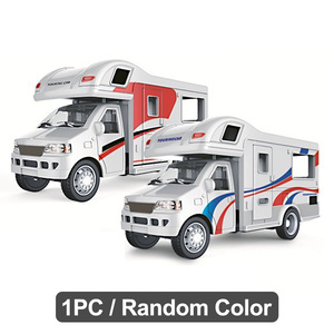 1:24 Recreational Random Color Car Model Gift Vehicle Simulation RV Trailer Kid Toy Luxury Motorhome Diecast Craft Table Alloy(China)