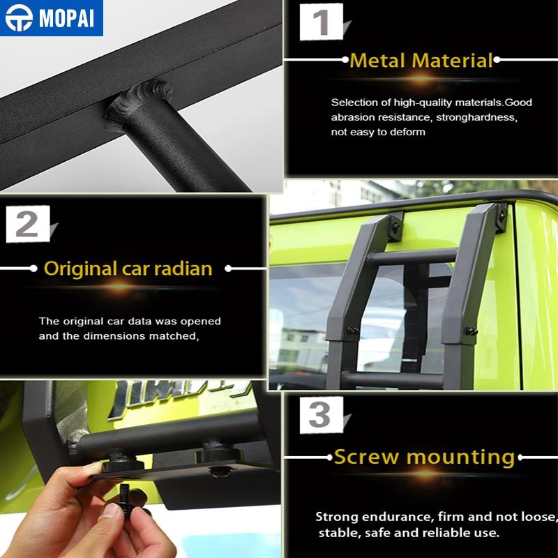Image 5 - MOPAI Protective Frames for Suzuki Jimny JB74 2019+ Car Rear Door Tailgate Ladder Accessories for Suzuki Jimny 2019+Protective Frames   -