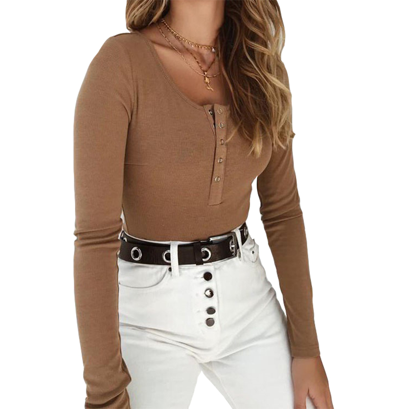 Fashion Skinny Body Suit Autumn Bodycon Bodysuit Feminino Solid Sexy Club Women Rompers Long Sleeve Tops Knitted Bodysuit TS1044