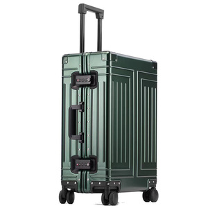 """Image 2 - Carrylove 20""""24""""26""""29"""" inch aluminum trolley suitcase waterproof metallic cabin luggage trolly bag with wheels"""