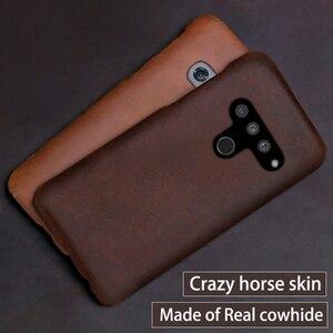 Image 2 - Genuine Leather Phone Case For LG G8s V50 V10 V20 V30 V30S V40 G3 G4 G5 G6 G7 G8 G8X Q6 Q7 Q8 ThinQ K40 Crazy Horse Skin Cover