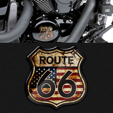 3D Motorcycle Sticker America US The Historic Route 66 Stickers Fit for Harley Touring Electra Glide Ultra Road King