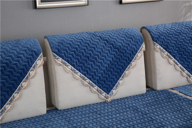 Thick Slip Resistant Couch Cover for Corner Sofa Made with Plush Fabric Including Lace for Living Room Decor 42