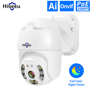 Hiseeu H.265 1080P POE PTZ IP Camera 4X Digital ZOOM 2MP ONVIF for NVR 48V CCTV System Outdoor Waterproof - discount item  51% OFF Video Surveillance