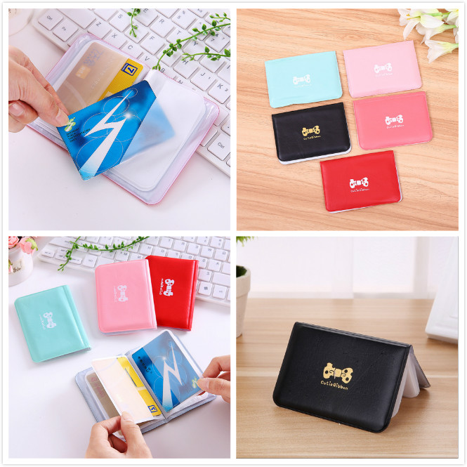 Cute Candy Color Wallet Case PU Leather On Cover For Auto Driver License Bag Car Driving Documents Business Card Holder Purse