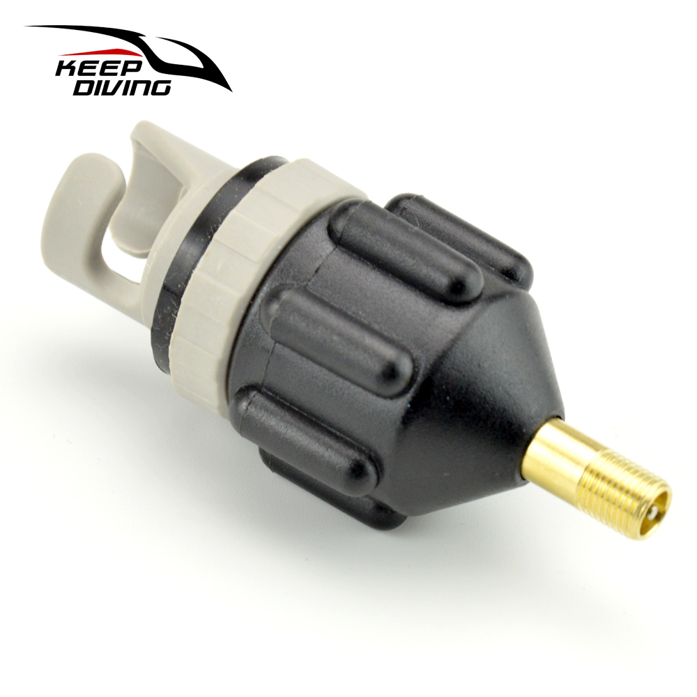 Sup Standup Paddle Board Valve Adapter Canoe Kayak Pump Air Valve Vehicle Inflation Air Compressor Adaptor Accessory