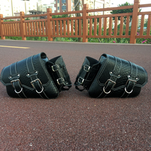 Motorcycle Saddlebags Pouch Luggage Universal Left Right Style PU Crocodile