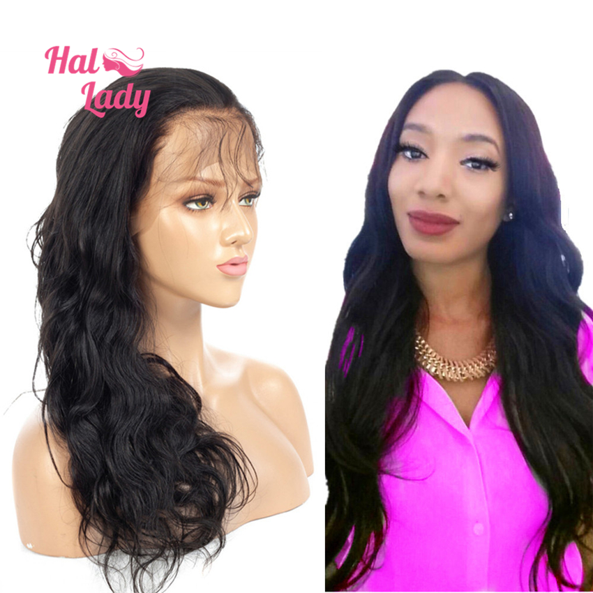 13x4 Lace Front Human Hair Wigs Preplucked Brazilian Body Wave Non Remy Hair Wig with Lace Area 150% Density Halo Lady Alipearl-in Human Hair Lace Wigs from Hair Extensions & Wigs    1