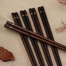 5/10 пар японские натуральные деревянные палочки для еды свадебные