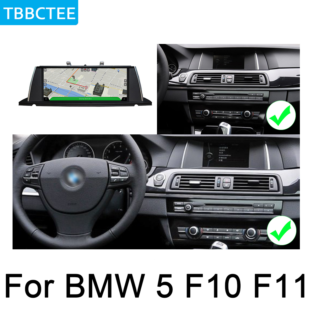 For BMW 5 F10 F11 2010 2012 CIC Android DVD Multimedia Player Car GPS Original Style HD Touch Screen Google WIFI System in Car Multimedia Player from Automobiles Motorcycles
